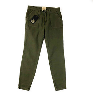 Chaser Olive Green Utility Pocket Pants NWT